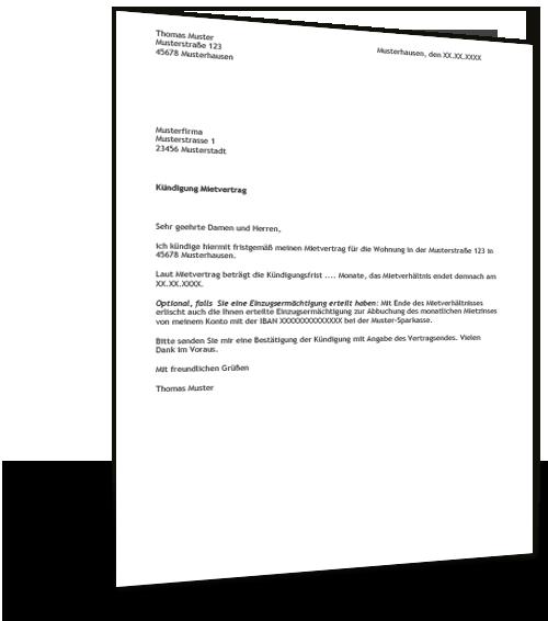 Kundigung Mietvertrag Fristlos Mieter Muster Zum Download